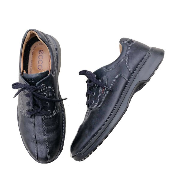 ECCO Shock Point Leather Lace Up Shoes EUR 45